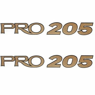 Tracker Pro 205 Gold Boat Decals (Pair)