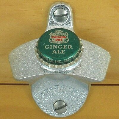 Canada Dry Ginger Ale BOTTLE CAP Starr X Wall Mount Stationary Bottle Opener NEW