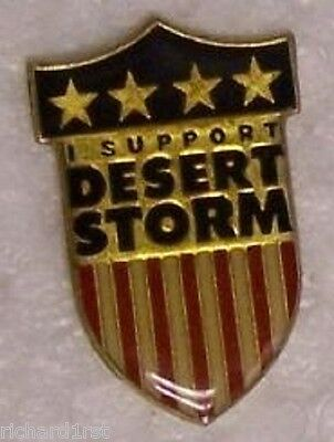 Hat Lapel Tie Pin Desert Storm I Support our Troops NEW