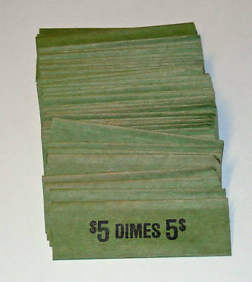 100 Dimes Coin Old Style Flat Wrappers