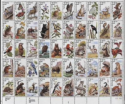 Scotts #2286-2335  22c   AMERICAN WILDLIFE  Full Sheet