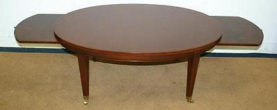 Antique STYLE TRADITIONAL MAHOGANY w tray tables inlaid side end table