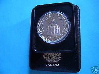 Library Of Parliament Canada 1976 Silver Dollar Coin