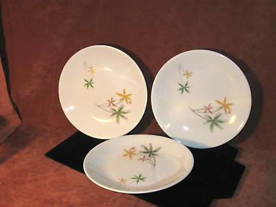 3 Atomic Seibel Iroquois Spring Flowers Bread Plates