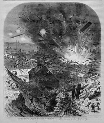 Explosion At City Point Wharf, Railroad, Petersburg