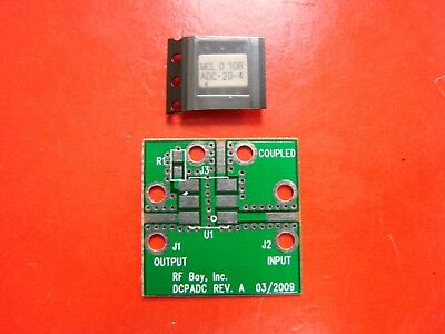Mini Circuits 5-1000MHz 20dB Directional Coupler ADC-20-4 with designed PCB