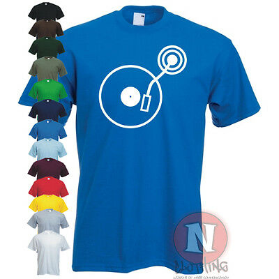 DJ turntable Ibiza block party old school style T-shirt rave retro cool