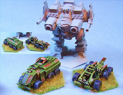 Battletech painted Giggins APC and Shandra Scout OD