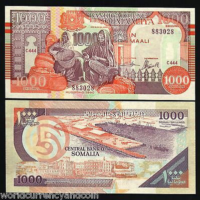 Puntland Somalia 1000 Shillings P R10 1990 Ship Unc Africa Currency Money Note