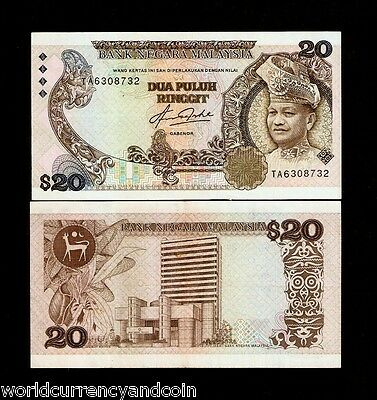 Malaysia $20 Ringgit P22 1982 Orchid King Aunc Worldcurrency Money Bill Banknote
