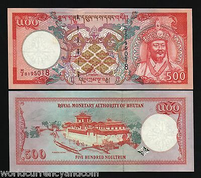 Bhutan 500 Ngultrum P26 2000 Millennium Palace Unc Bhutanese Currency Money Note