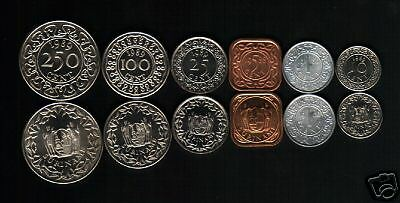 Suriname 1 5 10 25 100 250 Cents 1980-1989 Unc Currency Money Coin Complete Set