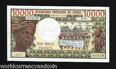 Congo Republic 10000 Francs P5 1978 Tractor Unc Rare Africa Currency Money Note