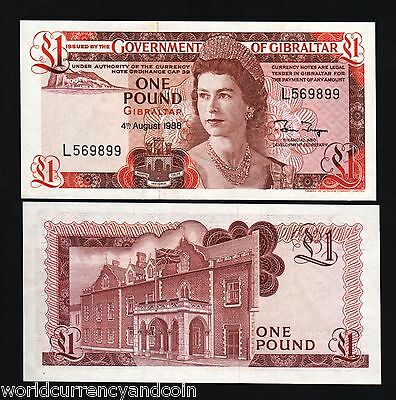 20 x 1 pound Gibraltar 1988 P-20e Young QEII UNC /> The last one pound LOT