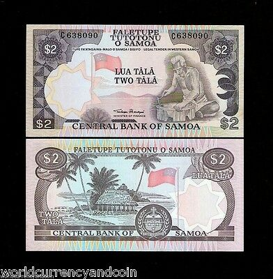 Western Samoa 2 Tala P25 1985 Flag Unc World Currency Paper Money Bill Bank Note