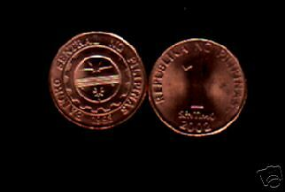 Philippines 1 Sentimo Km273 2002 Central Bank Seal Unc Currency Money Asean Coin