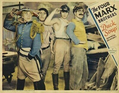 DUCK SOUP MOVIE POSTER The Marx Brothers RARE VINTAGE 5