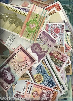 201 All Different Unc World Bank Note Africa Asia Europe Money Collection Animal