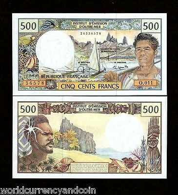 FRENCH PACIFIC TERRITORY 500 FRANCS P1d 1992 Cornaille SIGN UNC CURRENCY NOTE