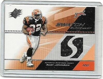 CHAD JOHNSON 2004 SPx SWATCH SUPREMACY GAME USED JERSEY