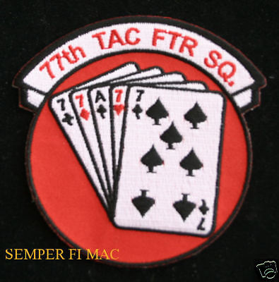 77TH TAC FTR FIGHTER SQUADRON PATCH US AIR FORCE PIN UP F-111HEYFORD WING GIFT
