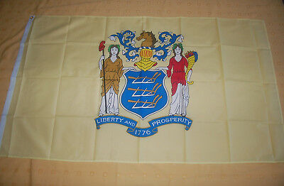 New Jersey USA Bundesstaat  Flagge 90 x 150 cm