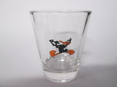 Daffy Duck Cartoon Character On A Clear Shot Glass