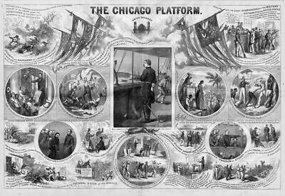 Slave Auction Emancipation Of The Slaves Abe Lincoln Chicago Platform Liberty
