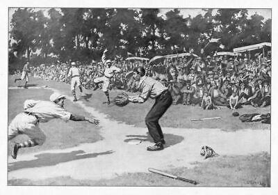 Baseball 1904, The Play At Home Plate, Cornville Eagles