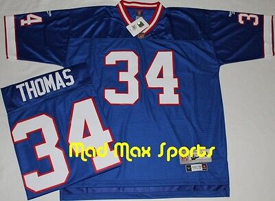 quality design 2e6f3 3cdff THURMAN THOMAS BUFFALO BILLS Reebok NFL Home THROWBACK Premier Jersey Size  XL