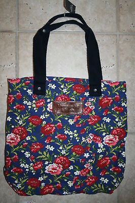 NWT Abercrombie & Fitch Flower Book Tote Bag