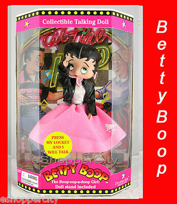 Betty Boop Talking Doll w/ Poodle Dress Collectible New