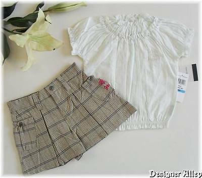 NWT CK Calvin Klein Girls 2pc Rara Top/Jeans Set sz3/4T