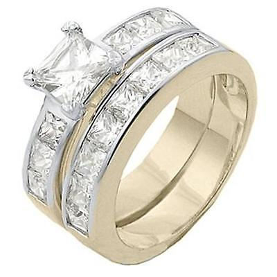 18K GOLD EP 4.0CT DIAMOND SIMULATED ENGAGEMENT RING size 5-12 you choose