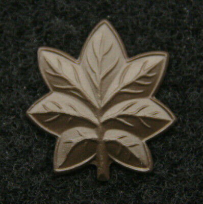 Us Marines Authentic Major Gld Hat Collar Pin Oak Leaf O-4 Rank Mos Gift Wow
