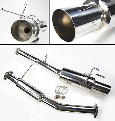 Stainless Steel Exhaust System From Cat Nissan 200Sx S13 Ca18Det 1989-1994