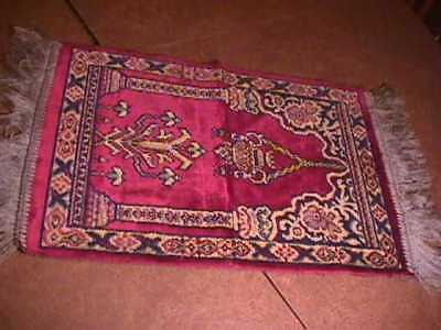 Antique Italy Woven Scarf / Tapestry- 13 x 19