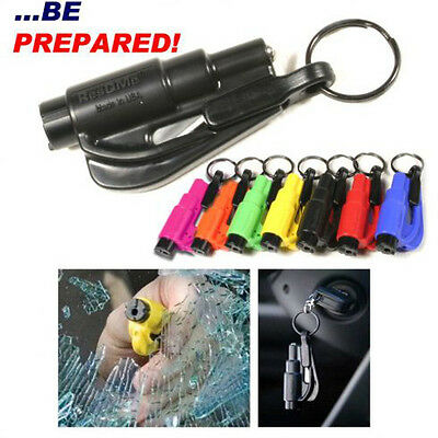 Genuine ResQme seatbelt cutter Rescue Tool Life Hammer Keyring Made In The USA