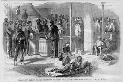 Civil War Exchanged Prisoners, Serving Out Rations