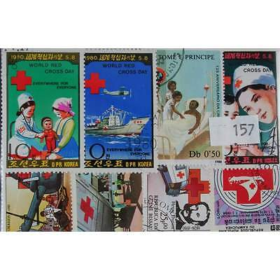 50 Red Cross  stamps. All different. Worldwide (157)