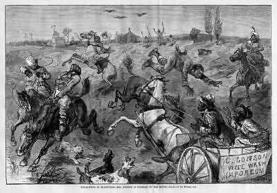 Negro, Fox-Hunting In Blackville, Dogs, Negroes Horse