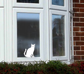 Sca Art - Cat Vinyl Window Sticker Decal - Great Gift!