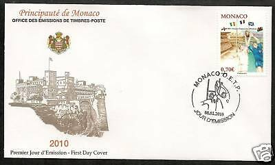 Monaco 2010 Centenary Five Nations Rugby Official Fdc