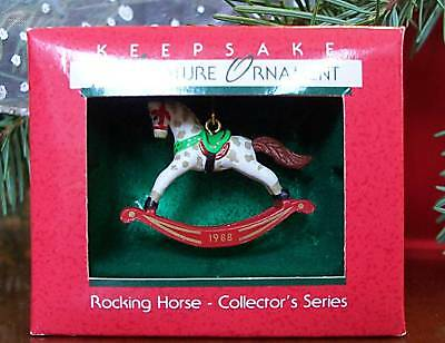 Hallmark Miniature Ornament 1988 Rocking Horse  Value $42.00 *NEW*
