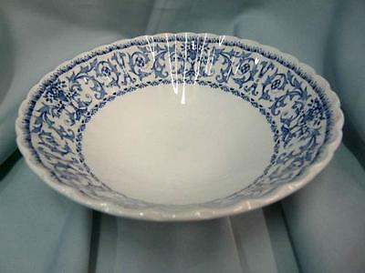 J&G MEAKIN CHINA FORUM BLUE CEREAL BOWL