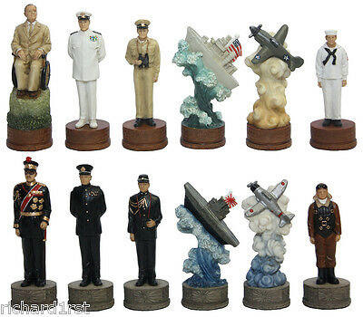 "Chess Set Pieces Battle Pearl Harbor 3 1/4"" Kings NIB"