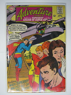 Adventure Comics #371 Signed by Jim Shooter DC 1968