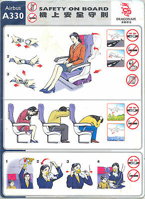 Safety Card - Dragonair - A330 (S2618)