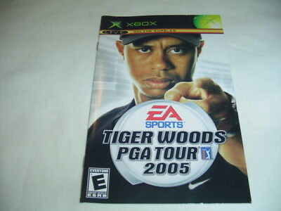 Manual ONLY for Tiger Woods PGA 2005 XBox X Box Booklet