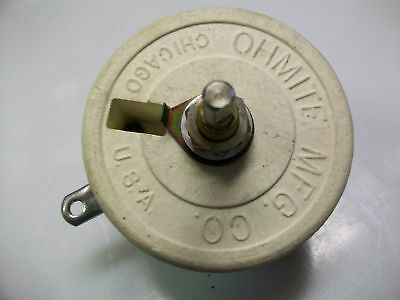 "Ohmite  1.75  Ohm  75  Watt Rheostat 1/2"" Shaft"